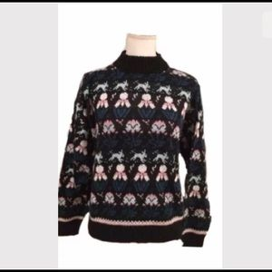 Pierre Cardin Bunny Sweater Cute 80s 90s kawaii